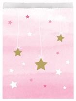 Pink Twinkle Little Star Paper Treat Bags 10pk