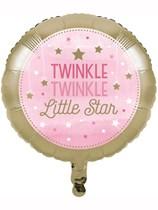"""Pink Twinkle Little Star 18"""" Foil Balloon"""