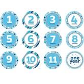 Glitter Baby Boy Monthly Milestone Stickers 12pk