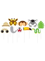 Jungle Animal Photo Booth Props 10pce
