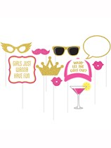 Deluxe Hen Party Photo Booth Props 10pk