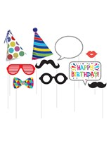 Birthday Photo Booth Props 10pce