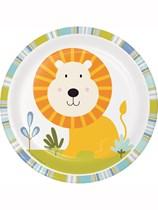 "Happy Jungle 7"" Paper Plates 8pk"