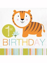 Happy Jungle 1st Birthday Luncheon Napkins 16pk