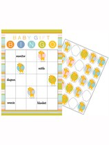 Happy Jungle Baby Shower Bingo Game