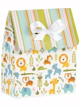 Happy Jungle Favour Bags with Ribbons 12pk