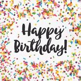 Confetti Sprinkles Happy Birthday Lunch Napkins 16pk