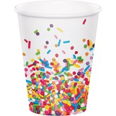 Confetti Sprinkles 9oz Paper Cups 8pk