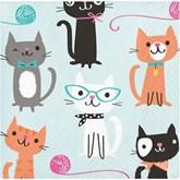 Purrfect Cat Party Paper Beverage Napkins 16pk