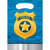 Police Party Plastic Party Bags 8pk