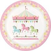 Carousel Baby Shower 23cm Paper Plates 8pk