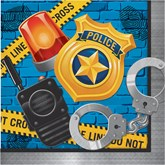 Police Party Paper Lunch Napkins 16pk