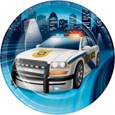 Police Party 18cm Lunch Plates 8pk