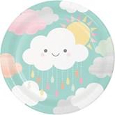 Sunshine Baby Showers 23cm Paper Plates 8pk
