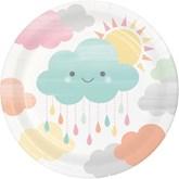Sunshine Baby Showers 18cm Paper Plates 8pk