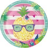 Pineapple 23cm Paper Plates 8pk