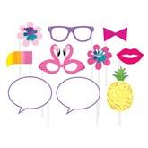Pineapple Flamingo Summer Party Photo Props 10pk