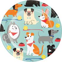 Dog Party 18cm Premium Strength Paper Plates 8pk