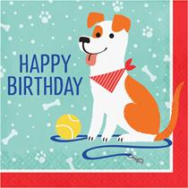 Dog Party Birthday 2-Ply Lunch Napkins 16pk