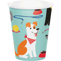 Dog Party 9oz Paper Cups 12pk