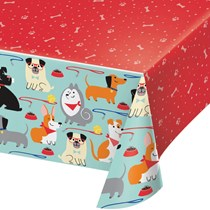 Dog Party Plastic Tablecover