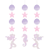 """Foil 22"""" Hanging Mermaid Under The Sea Cutouts 3pc"""