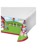 Farmhouse Fun Plastic Tablecover
