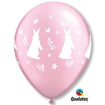 Qualatex Pearl Pink Rabbit Flower Latex Balloons 25 Pack