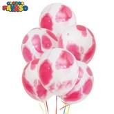 "Pink Marbled 12"" Latex Balloons 100pk"