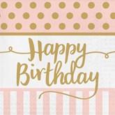 Deluxe 3-ply Happy Birthday Napkins 20pk