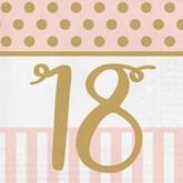 Deluxe 3-ply 18th Birthday Napkins 20pk