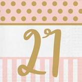 Deluxe 3-ply 21st Birthday Napkins 20pk