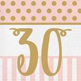 Deluxe 3-ply 30th Birthday Napkins 20pk