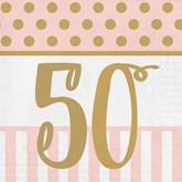 Deluxe 3-ply 50th Birthday Napkins 20pk
