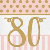 Deluxe 3-ply 80th Birthday Napkins 20pk