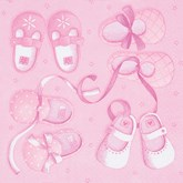 Pink New Arrival Baby Girl Lunch Napkins 20pk