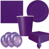 Deep Purple Bonus Party Pack for 8 people - 10 FREE BALLOONS
