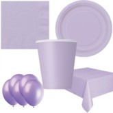Lavender Bonus Party Pack for 8 people - 10 FREE BALLOONS