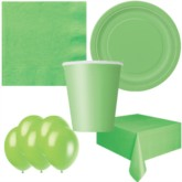 Lime Green Bonus Party Pack for 8 people - 10 FREE BALLOONS