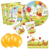 Winnie the Pooh Bonus Party Pack for 10 people - 10 FREE BALLOONS