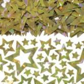 Gold Prismatic Star Confetti 14g