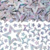 Silver Prismatic Star Confetti 14g