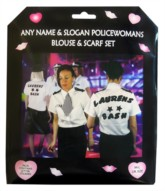 Personalised Hen Party Police Woman Top