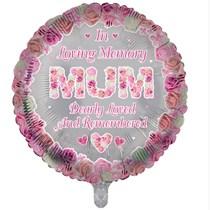 "Mum Memorial 18"" Round Foil Balloon"