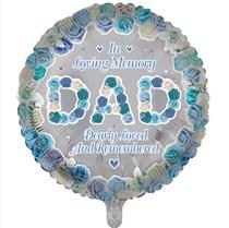 "Dad Memorial 18"" Round Foil Balloon"