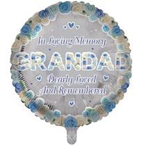 "Grandad Memorial 18"" Round Foil Balloon"