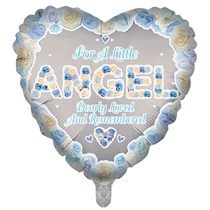 "Blue Angel Memorial 18"" Heart Foil Balloon"