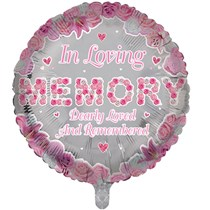 """In Loving Memory Pink 18"""" Round Foil Balloon"""
