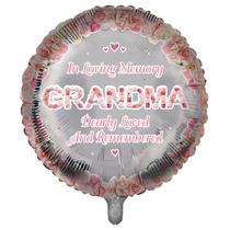 "Grandma Memorial 18"" Round Foil Balloon"