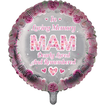 "Mam Memorial 18"" Round Foil Balloon"